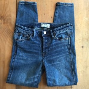 Free people High Rise Skinny Jeans Blue  25